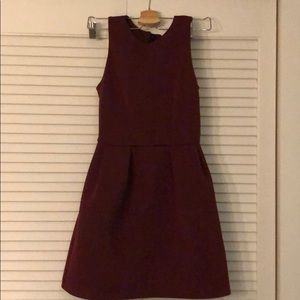 Topshop deep red dress